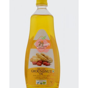 24 Mantra Organic Cold Pressed Groundnut Oil 1ltr