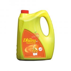 Dhara Kachi Ghani Mustard Oil (Jar) 5 Litre