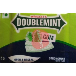 Doublemint Strong Mints Chewing Gum 4Pcs