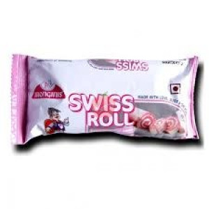 Monginis Swiss Roll Strawberry Cake 40gm