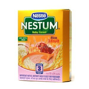 Nestle Nestum Rice 3 Fruit Stage 3 300gm