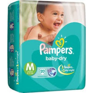 Pampers Baby Dry Diper M-20pc