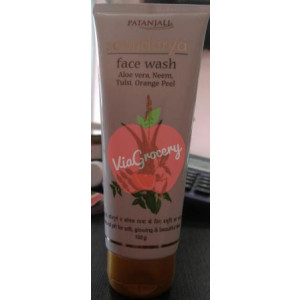 Patanjali Aloe Vera Neem Tulsi Orange Peel face Wash 100gm