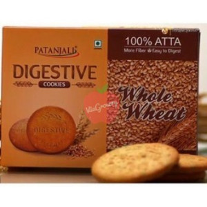 Patanjali Digestive Whole Wheat Cookies 250gm