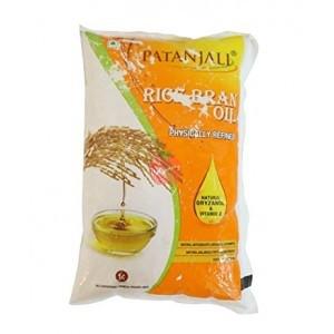 Patanjali Rice Bran Oil Pouch 1ltr