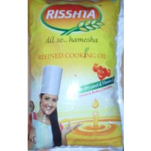 Rishta Rice Bran Oil 1ltr(Pouch)