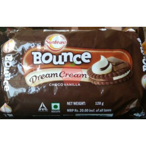 SunFeast Bounce Dream Cream Choco Vanilla 120gm