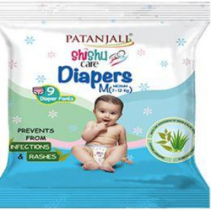 Patanjali Sishu Care Diapers Medium 9 Pants